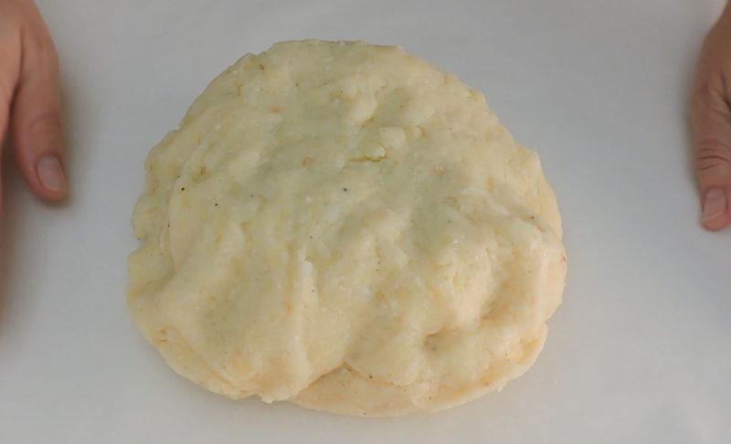 Masa de patata terminada