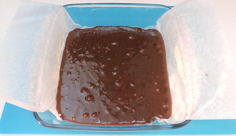 Bizcocho de chocolate antes de hornear