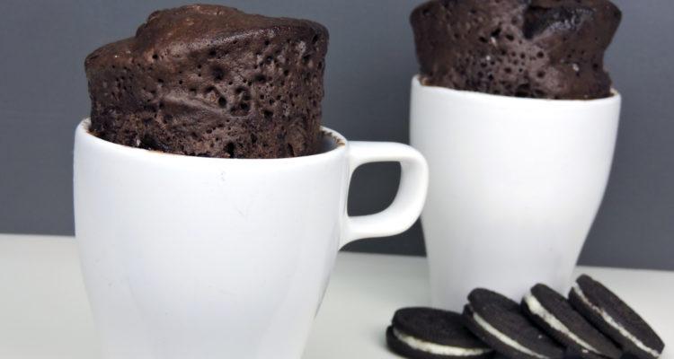 Mug cake de Oreo (bizcocho en taza)