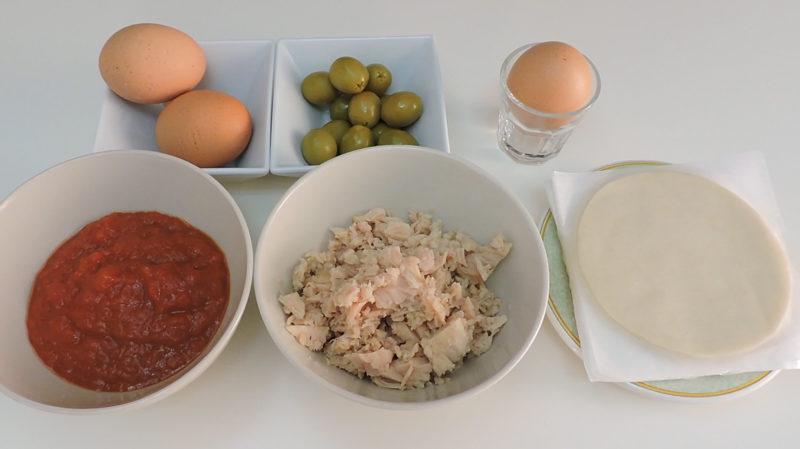 Ingredientes para las empanadillas de atún