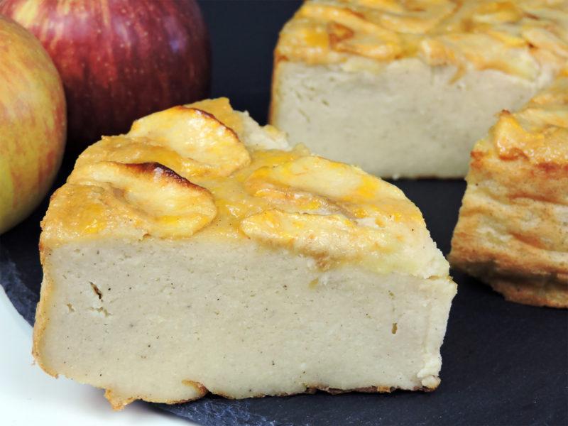 Tarta flan de manzana