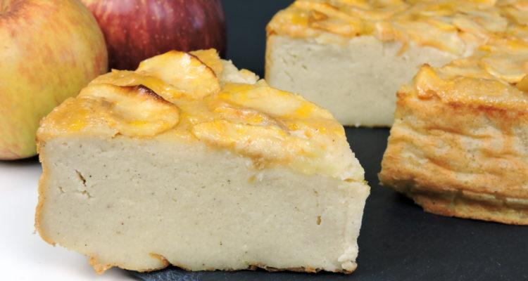 Tarta flan de manzana (pastel de manzana fácil)