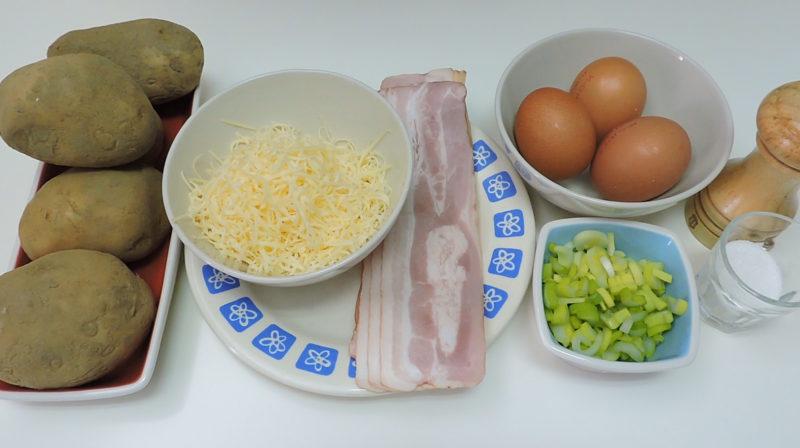 Ingredientes para los pastelitos de patata