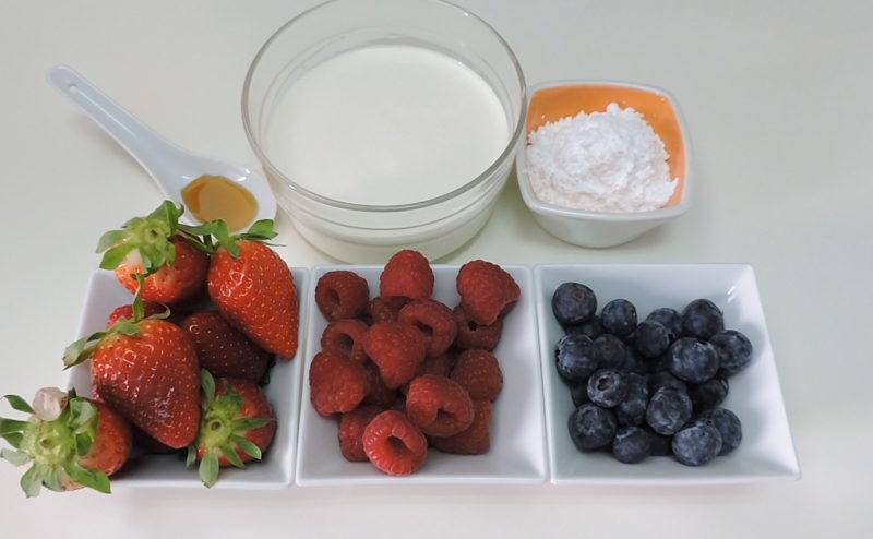 Ingredientes para rellenar la tarta