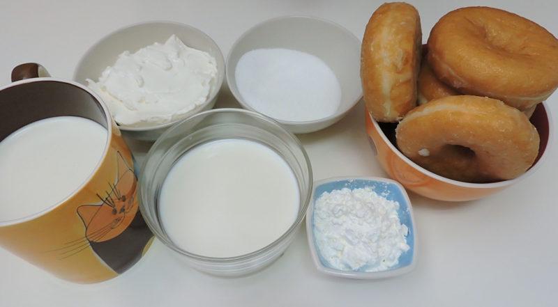 Ingredientes para la tarta de donuts