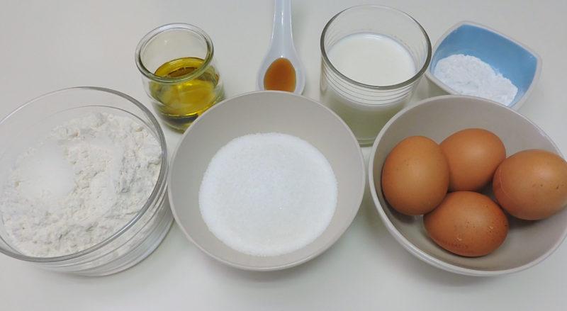 Ingredientes para el bizcocho