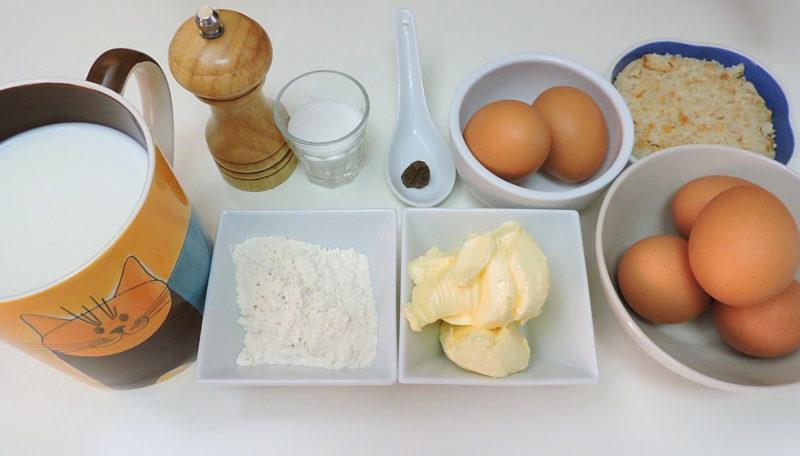 Ingredientes para las croquetas de huevo