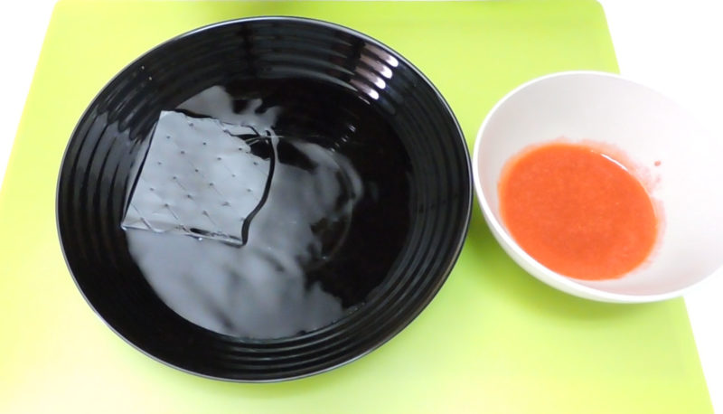Hidratando la gelatina