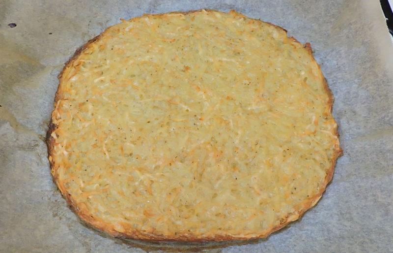Base de patata recién horneada
