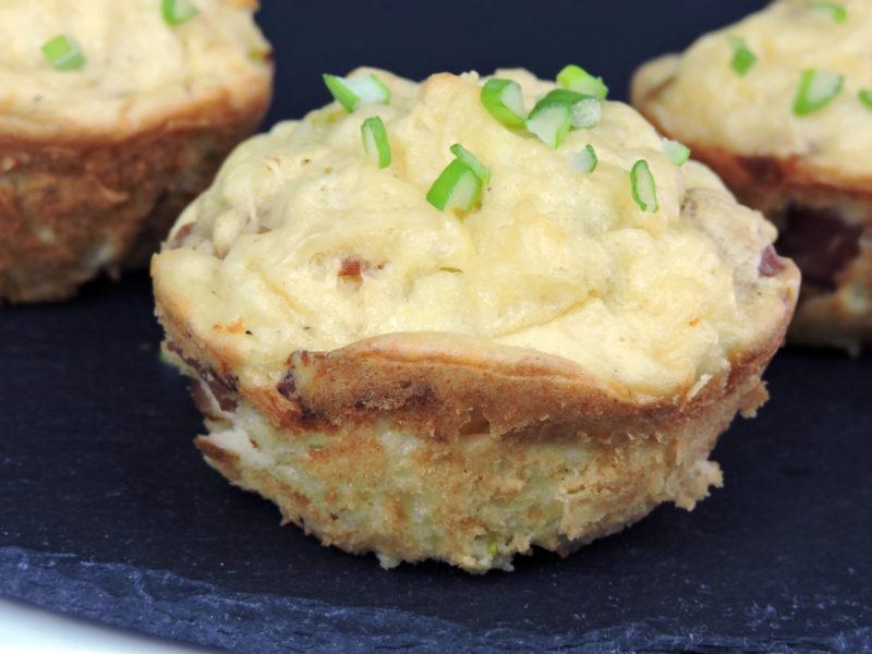 Pastelitos de patata con beicon y queso