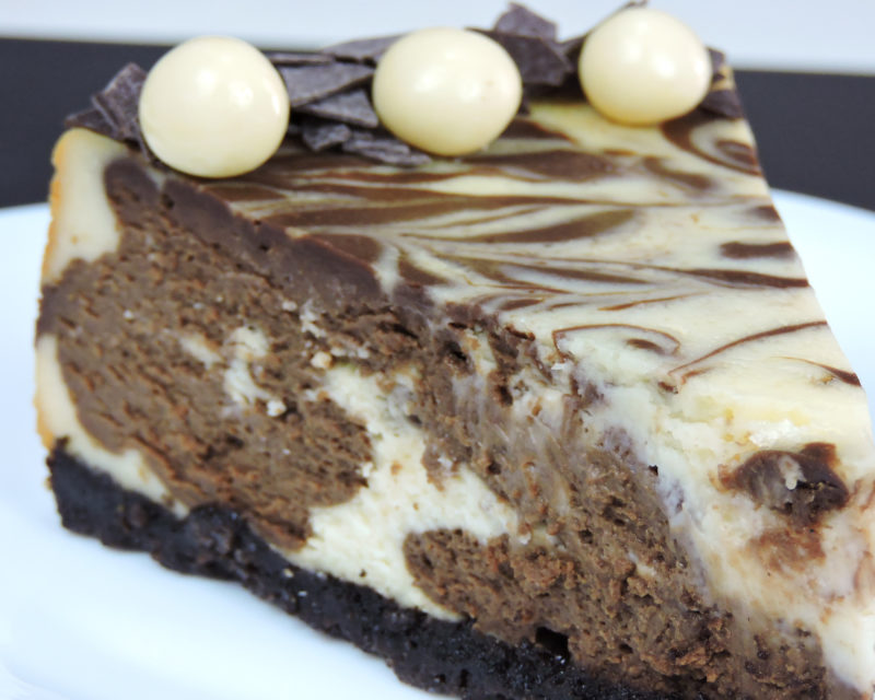 Tarta de queso doble chocolate