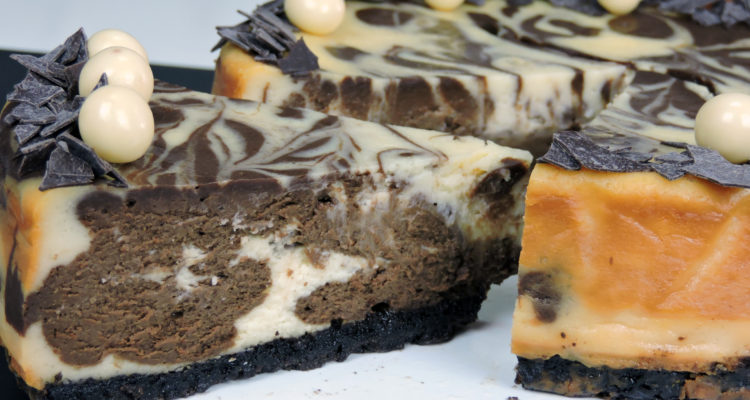 Tarta de queso ¡doble chocolate!