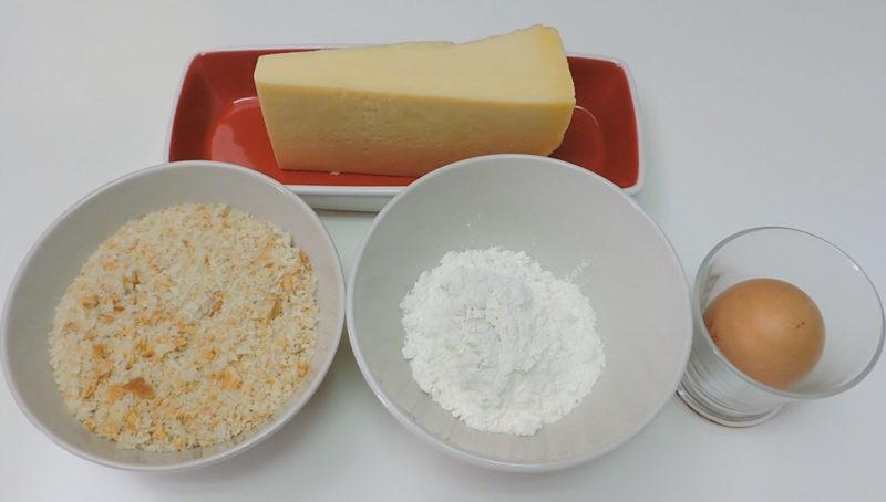 Ingredientes para las bolitas de queso
