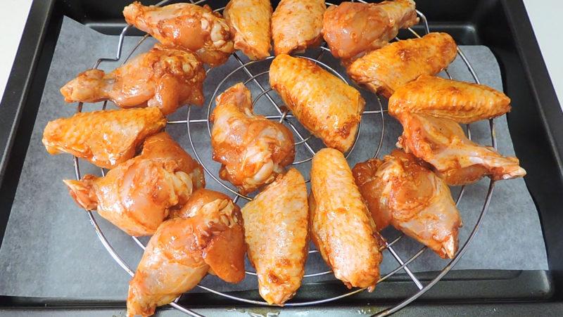 Alitas de pollo listas para asar