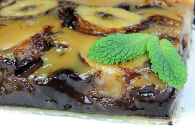 Pastel de chocolate y plátano