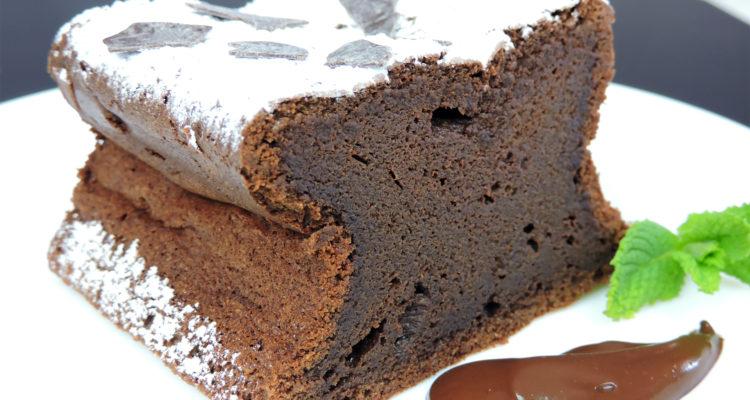 Pastel de chocolate (sin azúcar y sin harina)
