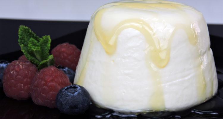 Panacota de queso y miel