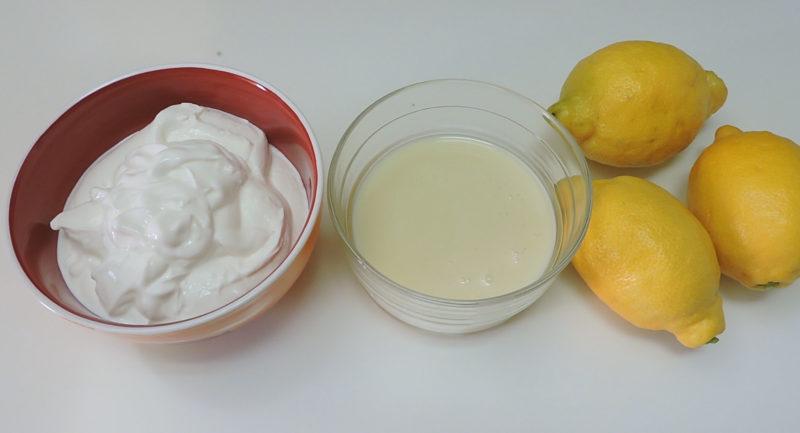 Ingredientes para la crema de limón