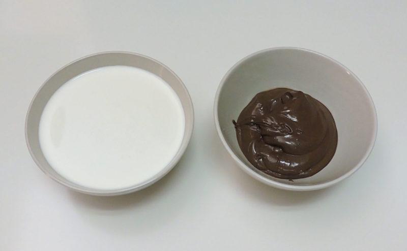 Ingredientes para la mousse de Nocilla