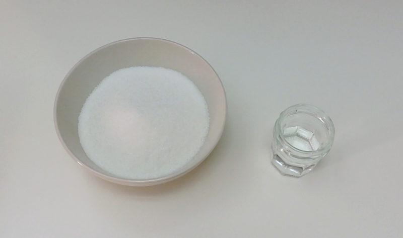 Ingredientes para el caramelo