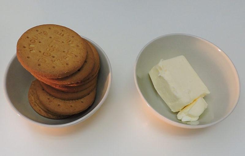Ingredientes para la base de galleta
