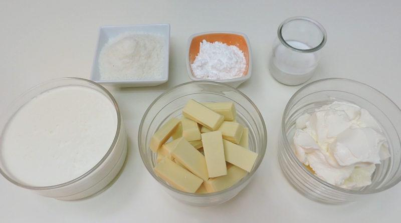 Ingredientes para el relleno y la cobertura