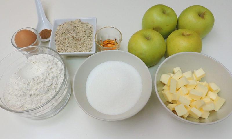 Ingredientes para las galletas rellenas de manzana