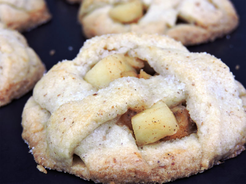 Galletas rellenas de manzana