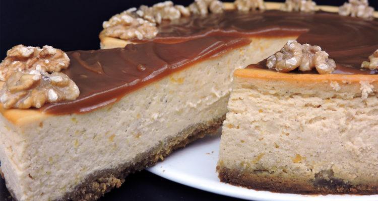 Tarta de queso y calabaza | Cheesecake de calabaza