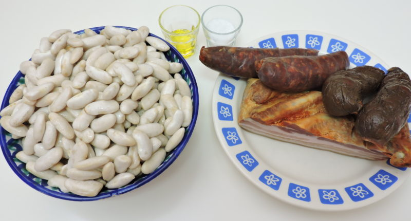 Ingredientes para la fabada