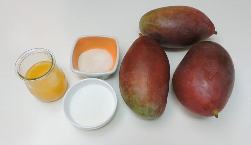 Ingredientes para la salsa de mango