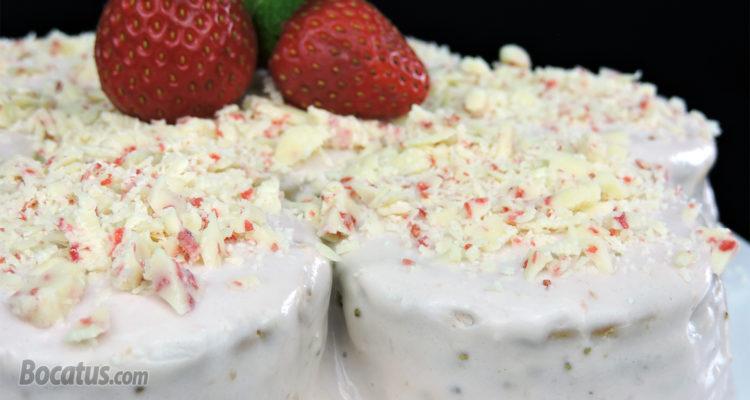 Tarta de Galletas y Fresa (fácil y sin horno)