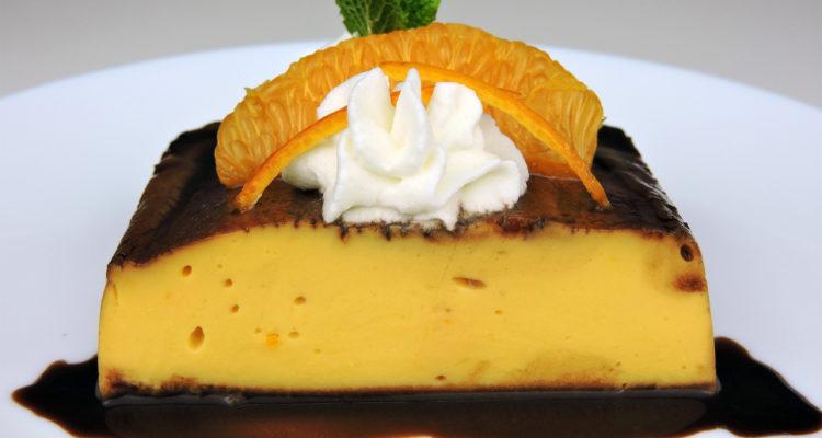 Flan de naranja (sin horno)