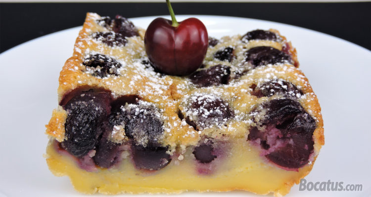 Tarta de Cerezas fácil (receta de clafoutis)