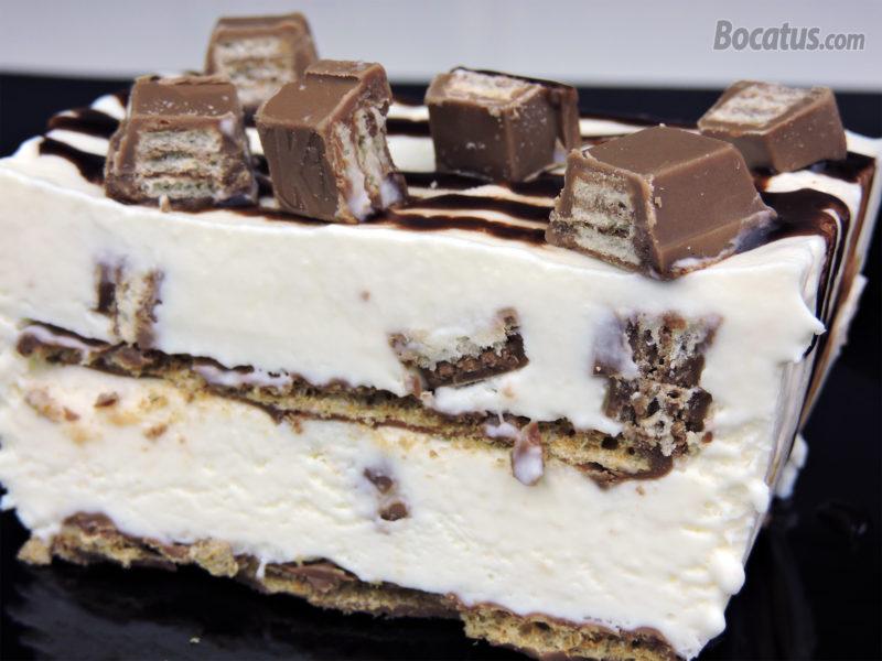 Tarta helada de KitKat