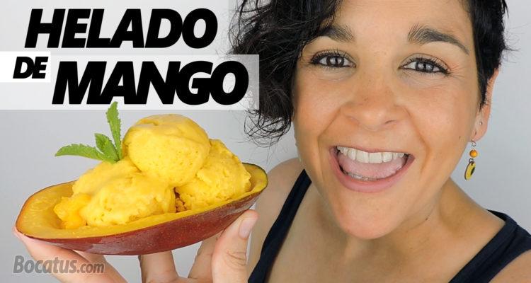 Helado de Mango (fácil y cremoso)