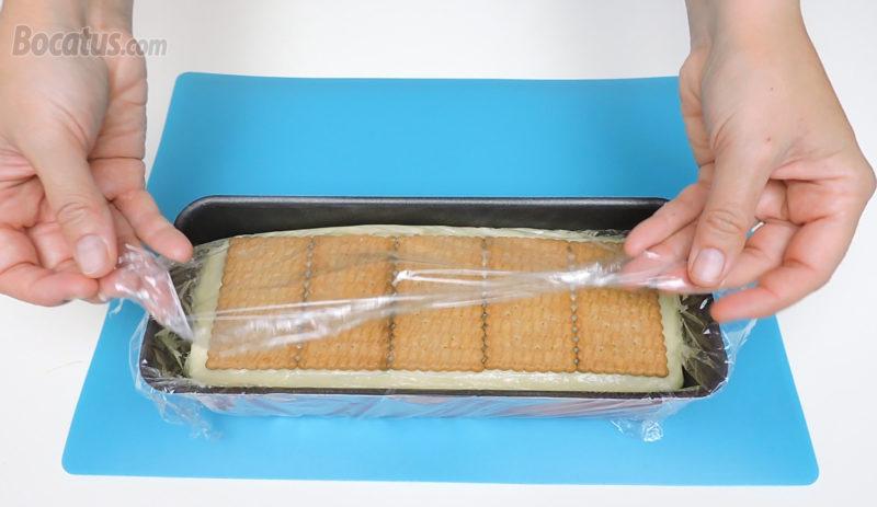 Tarta de galletas montada