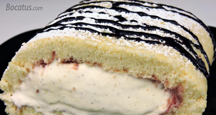 Rollo Helado (pastel relleno de helado)