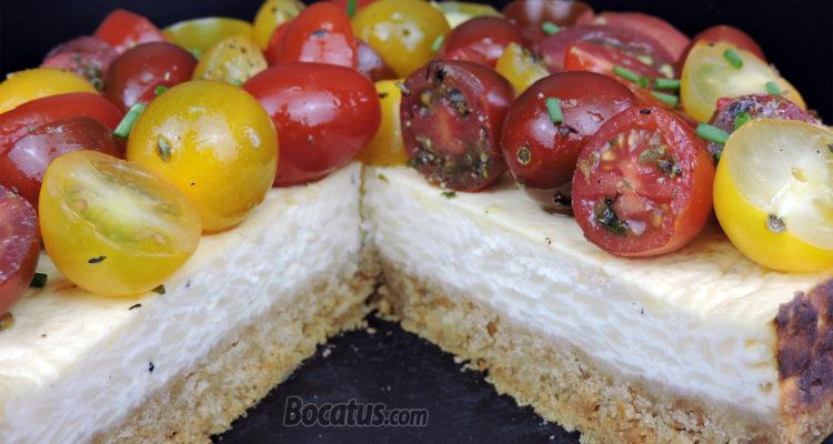 Tarta de queso salada / Cheesecake salado