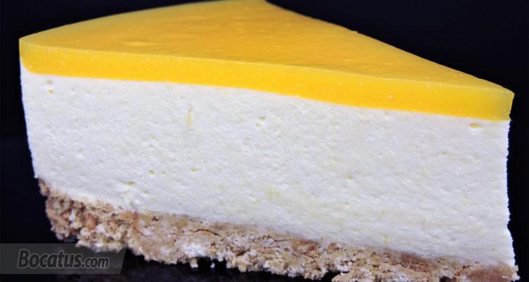 Tarta de Mango (fácil y sin horno)
