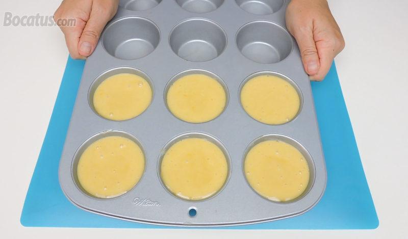 Bizcochitos de limón antes de hornear