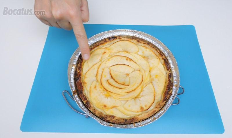 Tarta de manzana recién horneada