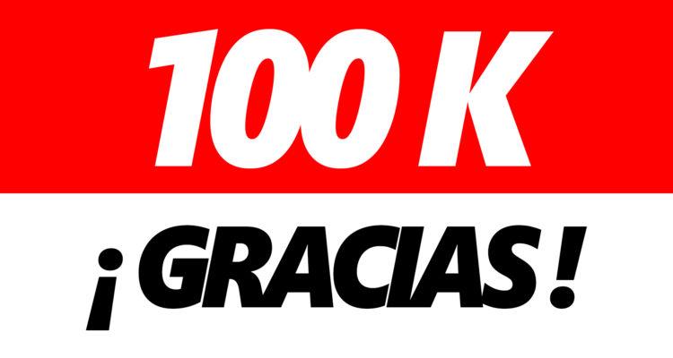100.000 suscriptores en YouTube