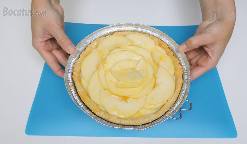 Tarta de manzana antes de hornear