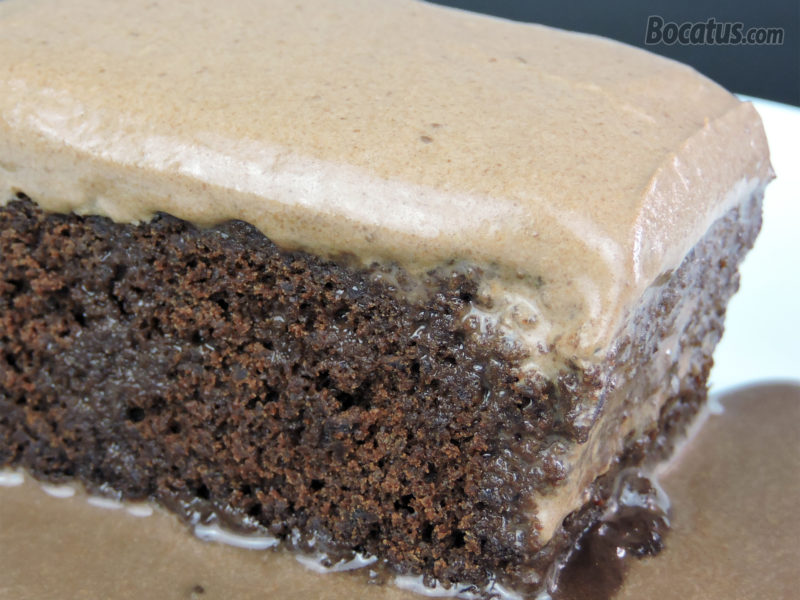 Pastel tres leches de chocolate