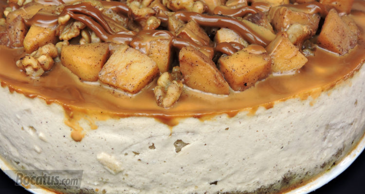 Tarta de queso y manzana (Cheesecake de manzana)