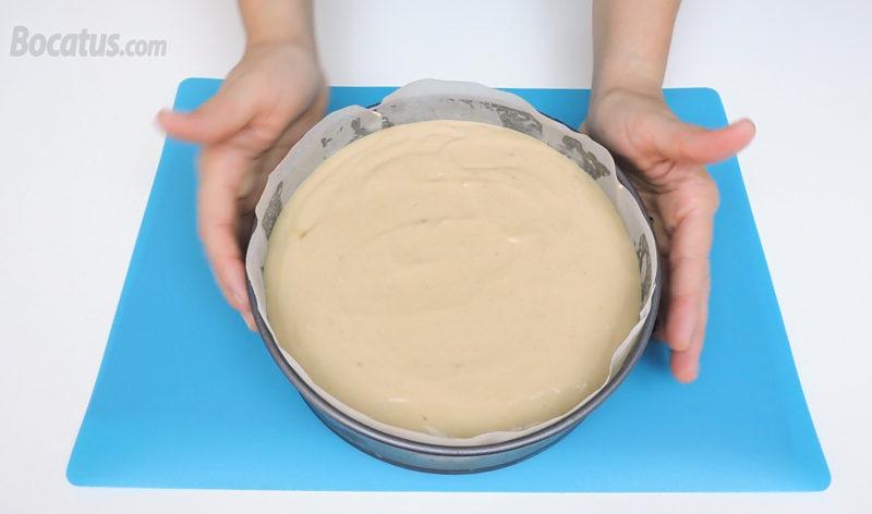 Tarta de queso antes de hornear