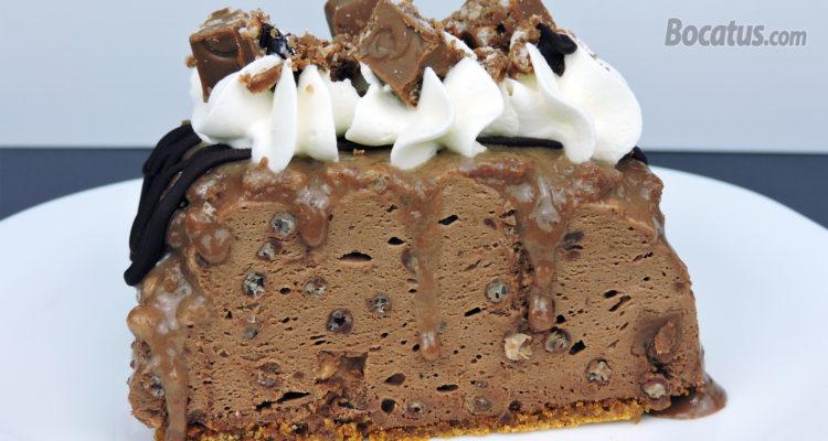 Tarta de turrón de chocolate Suchard (fácil y sin horno)