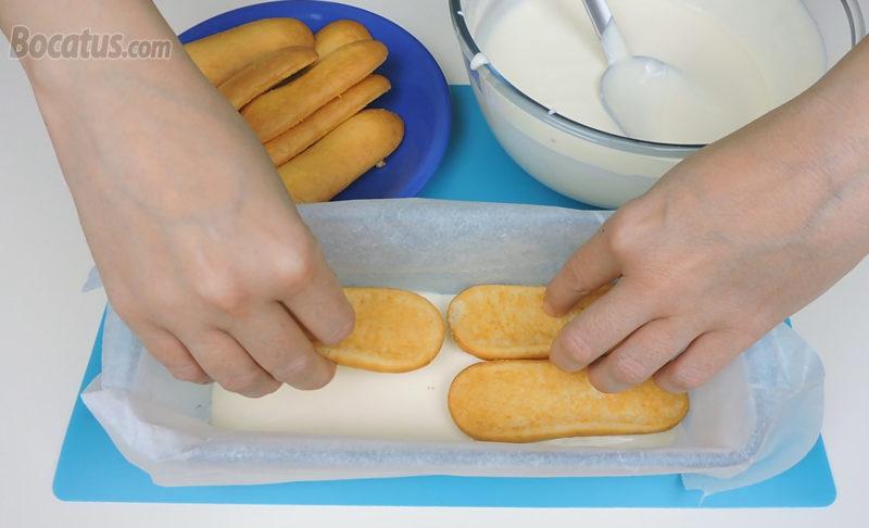 Montando el pastel de limón