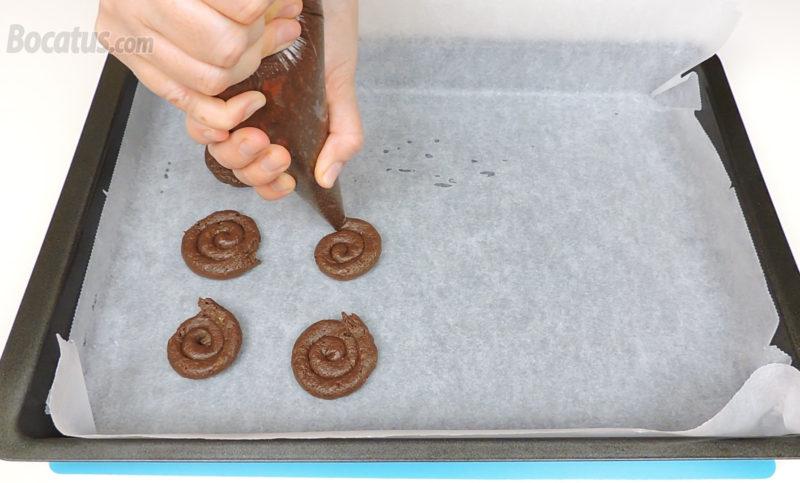 Formando las galletas